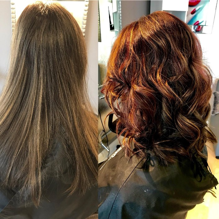 Stunning Before and After with Wella Violet Mahogany Brown